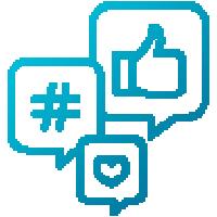 digital marketing and communication icon